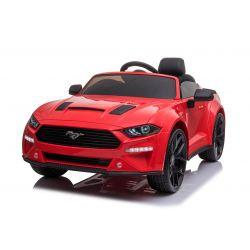 Samochód elektryczny do driftu Ford Mustang 24V, czerwony, koła Smooth Drift, silniki: 2 x 25000 obr / min, tryb Drift przy 13 km / h, akumulator 24 V, światła LED, przednie koła EVA, pilot 2,4 GHz, miękkie siedzenie PU, licencja ORYGINALNA