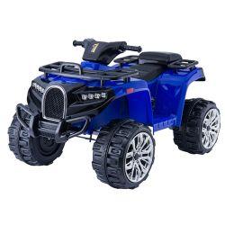 Autko elektryczne Quad ALLROAD 12V, niebieskie, ogromne miękkie koła EVA, 2 x 12V, silnik, oświetlenie LED, odtwarzacz MP3 z USB, akumulator 12V7