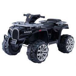 Autko elektryczne Quad ALLROAD 12V, czarny, ogromne miękkie koła EVA, 2 x 12V, silnik, oświetlenie LED, odtwarzacz MP3 z USB, akumulator 12V7Ah