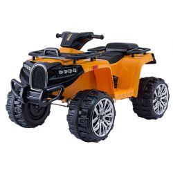 Autko elektryczne Quad ALLROAD 12V, pomarańczowe, ogromne miękkie koła EVA, 2 x 12V, silnik, oświetlenie LED, odtwarzacz MP3 z USB, akumulator 12V7Ah