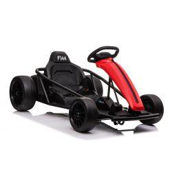 Autko driftowe ALP-TREKKK 24V, czerwone, gładkie koła driftowe, silnik 2 x 350W, tryb driftowy przy 13 km/h, akumulator 24V, solidna konstrukcja
