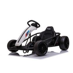 Autko driftowe ALP-TREKKK 24V, białe, gładkie koła driftowe, silnik 2 x 350W, tryb driftowy przy 13 km/h, akumulator 24V, solidna konstrukcja