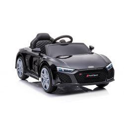 Elektryczny autko Audi R8 Spyder nowy typ, Plastikowe siedzisko, Plastikowe koła, Wejście USB / SD, Akumulator 12 V, SILNIK 2 X 25 W, Czarny, ORYGINALNA licencja