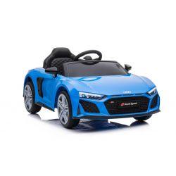 Elektryczny autko Audi R8 Spyder nowy typ, Plastikowe siedzisko, Plastikowe koła, Wejście USB / SD, Akumulator 12V, SILNIK 2 X 25W, Niebieski, ORYGINALNA licencja