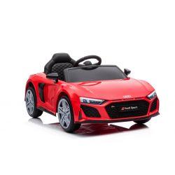 Elektryczny autko Audi R8 Spyder nowy typ, Plastikowe siedzisko, Plastikowe koła, Wejście USB / SD, Akumulator 12V, SILNIK 2 X 25W, Czerwony, ORYGINALNA licencja