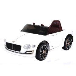Autko Elektryczne Bentley EXP 12 Prototype, 12 V, Pilot 2.4GHz, Drzwi Na Zawiasach, Koła EVA, Skórzane Fotele, 2 X Silnik, Biały, Licencja ORYGINALNA
