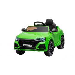 Autko elektryczne Audi RSQ8, 12V, pilot 2,4 GHz, wejście USB / SD, oświetlenie LED, akumulator 12V, miękkie koła EVA, 2 X 35W SILNIK, zielona, licencja ORYGINALNA