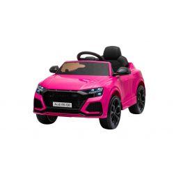 Autko elektryczne Audi RSQ8, 12V, pilot 2,4 GHz, wejście USB / SD, oświetlenie LED, akumulator 12V, miękkie koła EVA, 2 X 35W SILNIK, różowy, licencja ORYGINALNA