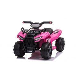 Elektryczny ATV MINI 6V, różowy, odtwarzacz MP3 z wejściem USB/AUX, silnik 1 X 25W, akumulator 6V/4Ah, reflektory