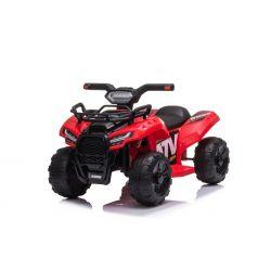 Elektryczny ATV MINI 6V, czerwony, odtwarzacz MP3 z wejściem USB/AUX, silnik 1 X 25W, akumulator 6V/4Ah, reflektory