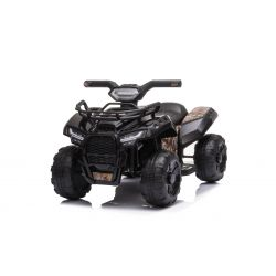 Elektryczny ATV MINI 6V, czarny, odtwarzacz MP3 z wejściem USB / AUX, silnik 1 X 25W, akumulator 6V / 4Ah, reflektory