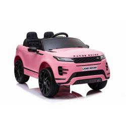 Autko elektryczne Range Rover EVOQUE, Różowy, odpowiednie dla jednego dziecka, odtwarzacz MP3 z wejściem USB, napęd 4x4, akumulator 12V10Ah, koła EVA, oś zawieszenia, uruchamianie kluczyka, pilot Bluetooth 2,4 GHz, licencjonowany