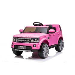 Autko elektryczne Land Rover Discovery, 12V, pilot 2,4 GHz, wejście USB / AUX, zawieszenie, otwierane drzwi i maska, 2 X 35W SILNIK, różowy, licencja ORYGINALNA