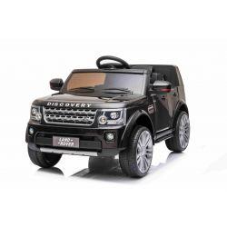 Samochód elektryczny Land Rover Discovery, 12V, pilot 2,4 GHz, wejście USB / AUX, zawieszenie, otwierane drzwi i maska, 2 X 35W SILNIK, czarny, licencja ORYGINALNA