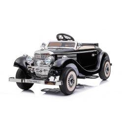 Samochód elektryczny Mercedes-Benz 540K 4x4 czarny, sterowanie lokalną kierownicą dla dorosłych, napęd 4x4, akumulator 12V14AH, koła EVA, tapicerowane siedzenie, 2,4 GHz DO, odtwarzacz MP3, USB, Bluetooth, licencja oryginalna