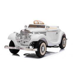 Samochód elektryczny Mercedes-Benz 540K 4x4 Biały, Lokalna kierownica dla dorosłych, 4x4, Akumulator 12V14AH, Koła EVA, Tapicerowane siedzenie, 2,4 GHz DO, Odtwarzacz MP3, USB, Bluetooth, Oryginalna licencja