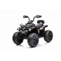 Elektryczny ATV SUPERPOWER 12V, czarny, plastikowe koła z gumką, silnik 2 x 45W, plastikowe siedzenie, zawieszenie, akumulator 12V7Ah, odtwarzacz MP3