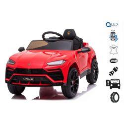 Autko elektryczne Lamborghini URUS, czerwony, oryginalna licencja, na akumulator, otwierane drzwi, 2x silnik, akumulator 12 V, zdalne sterowanie 2,4 Ghz, miękkie koła EVA, zawieszenie, płynny start