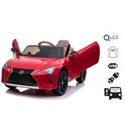 Autko elektryczne Lexus LC500, czerwone, oryginalna licencja, zasilanie z akumulatora 12 V, drzwi otwierane pionowo, silnik 2x, pilot zdalnego sterowania 2,4 GHz, zawieszenie, płynny rozruch