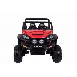 Elektryczne Autko, RSX, Czerwony Kolor, 2,4 GHz, Silnik 2 x 12 V/7 Ah, 4 x Napęd, Pilot, 2 Skórzane Siedzenia, Koła Soft EVA, Radio FM, Bluetooth