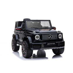 Elektryczne Autko, Mercedes G, Czarny Kolor, Koła EVA, Pojedyncze Siedzenie, Akumulator 12 V, 2,4 GHz, 2 x Silnik, USB, Karta SD, Oryginalna Licencja