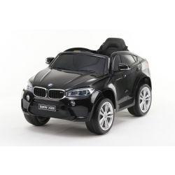 Elektryczne Autko, BMW X6M, NOWOŚĆ - Pojedyncze Siedzenie, Czarny Kolor, Oryginalna Licencja, Zasilany Akumulatorem, Otwierane Drzwi, Skórzane Siedzenie, 2 x Silnik, Akumulator 12 V, Pilot 2,4 Ghz, Miękkie Koła EVA, Płynny Start