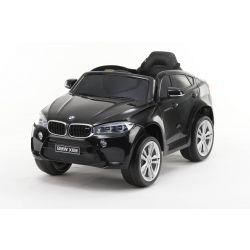 Elektryczne Autko BMW X6M NOWOŚĆ - Pojedyncze Siedzenie, Czarny Kolor, Oryginalna Licencja, Zasilanie Akumulatorem, Otwierane Drzwi, Skórzany Fotel, 2 x Silnik, Akumulator 12 V, Pilot 2,4 Ghz, Koła Soft EVA, Płynny Start