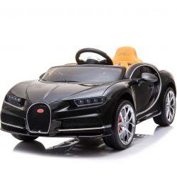 Autko elektryczne Bugatti Chiron | Silnik 12 V | Pilot Zdalnego Sterowania 2,4 GHz | Otwierane Drzwi | Koła EVA | Skórzany fotel | 2 X SILNIK | CZARNY Kolor | ORGINALNA Licencja