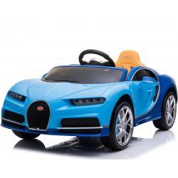 Autko elektryczne Bugatti Chiron | Silnik 12 V | Pilot Zdalnego Sterowania 2,4 GHz | Otwierane Drzwi | Koła EVA | Skórzany fotel | 2 X SILNIK | Niebieski Kolor | ORGINALNA Licencja