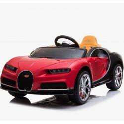 Autko elektryczne Bugatti Chiron | Silnik 12 V | Pilot Zdalnego Sterowania 2,4 GHz | Otwierane Drzwi | Koła EVA | Skórzany fotel | 2 X SILNIK | CZERWONY Kolor | ORGINALNA Licencja