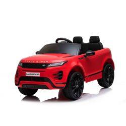 Autko elektryczne Range Rover EVOQUE, czerwone, odpowiednie dla jednego dziecka, odtwarzacz MP3 z wejściem USB, napęd 4x4, akumulator 12V10Ah, koła EVA, oś zawieszenia, uruchamianie kluczyka, pilot Bluetooth 2,4 GHz, licencjonowany