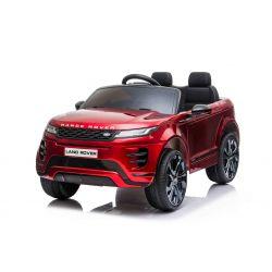 Elektryczny Range Rover EVOQUE, lakierowany, czerwony, odpowiedni dla jednego dziecka, odtwarzacz MP3 z wejściem USB, napęd 4x4, akumulator 12V10Ah, koła EVA, oś zawieszenia, klucz, pilot Bluetooth 2,4 GHz, licencja