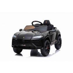 Autko elektryczne Lamborghini URUS, czarny, oryginalna licencja, na akumulator, otwierane drzwi, 2x silnik, akumulator 12 V, zdalne sterowanie 2,4 Ghz, miękkie koła EVA, zawieszenie, płynny start