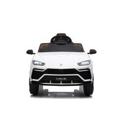 Autko elektryczne Lamborghini URUS, białe, oryginalna licencja, na akumulator, otwierane drzwi, 2x silnik, akumulator 12 V, zdalne sterowanie 2,4 Ghz, miękkie koła EVA, zawieszenie, płynny start