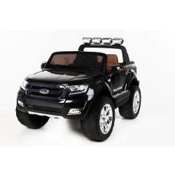 Elektryczne Autko Ford Ranger Wildtrak 4 x 4 LCD Luxury, Ekran LCD, 2,4 GHz, 2 x 12 V, 4 x SILNIK, Pilot, Dwa Fotele ze Skóry, Miękkie koła EVA, Radio FM, Bluetooth, Czarny Kolor