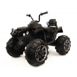 Quad Elektryczny HERO 12 V, Czarny, Miękkie Koła, 2,4 GHz ZDALNE STEROWANIE, Skórzane Siedzenie, Zawieszenie, Akumulator 12 V 7 Ah