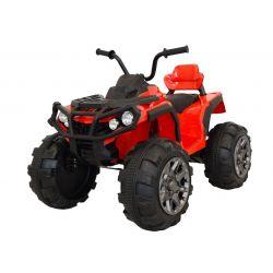 Quad Elektryczny HERO 12 V, Czerwony, Miękkie Koła, 2,4 GHz ZDALNE STEROWANIE, Skórzane Siedzenie, Zawieszenie, Akumulator 12 V 7 Ah