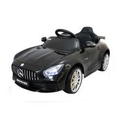 Elektryczne Autko, Mercedes-Benz GTR, Czarny Kolor, Licencjonowany, Zasilanie Akumulatorem, 2 x Silnik, Pilot Zdalnego Sterowania 2,4 GHz, Miękkie Koła EVA, Gładki Start